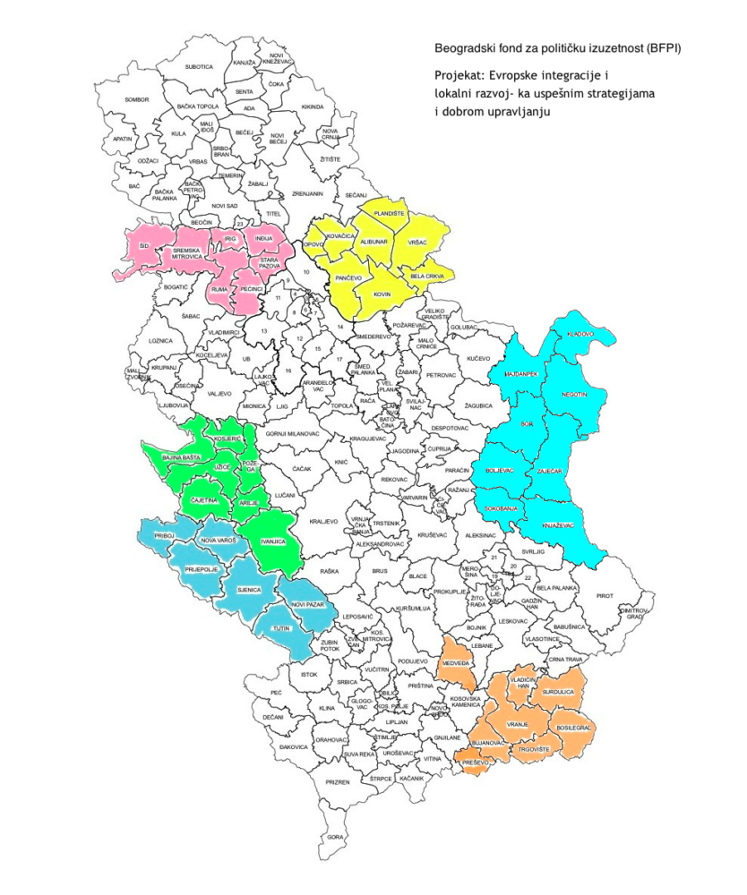 mapa srbije regioni Regioni ~ Beogradski fond za političku izuzetnost mapa srbije regioni