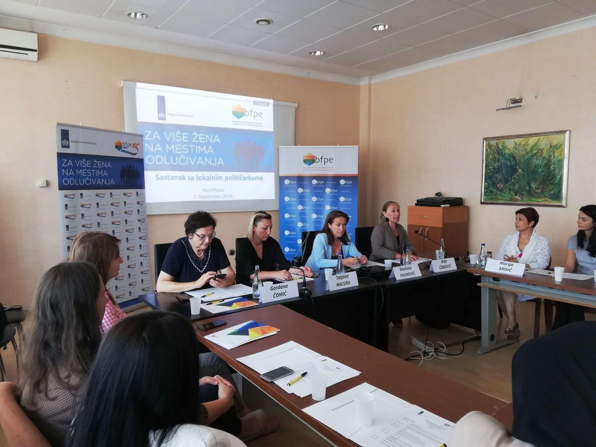 Za više žena na mestima odlučivanja: sa političarkama u Novom Pazaru