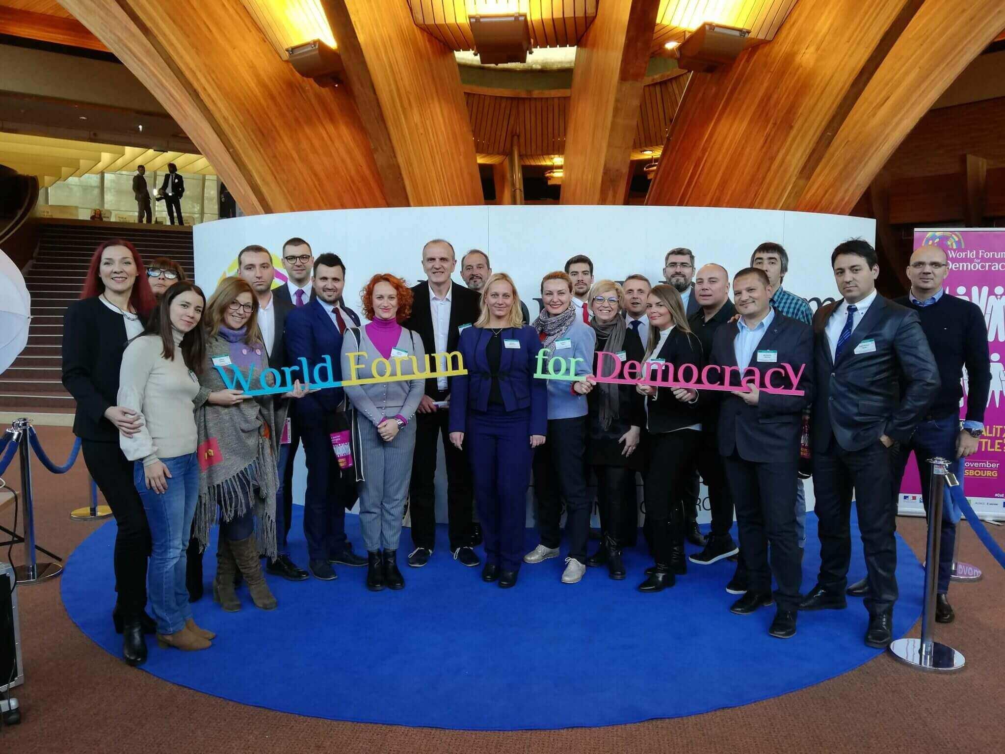 Alumnisti BFPE na Svetskom forumu demokratije 2018.