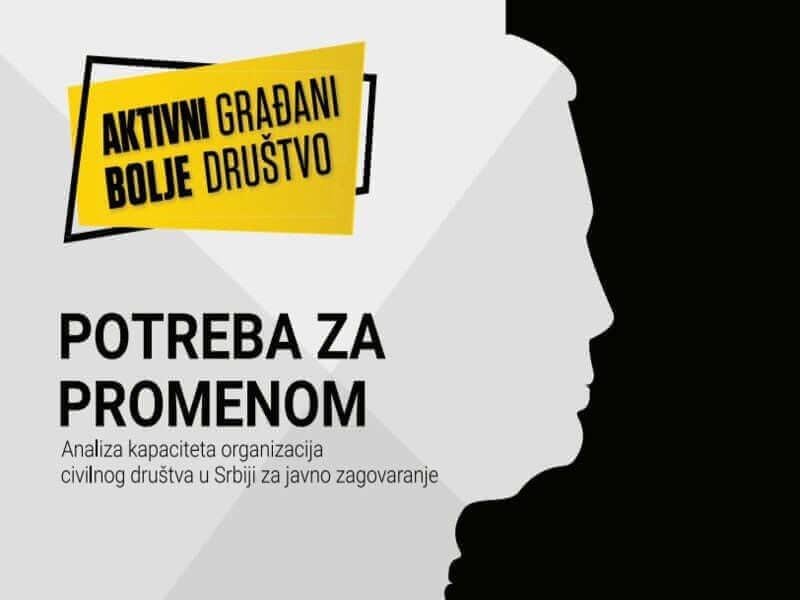 Potreba za promenom: zagovaračke aktivnosti organizacija civilnog društva