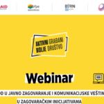 Aktivni građani - bolje društvo: Onlajn treninzi o javnom zagovaranju